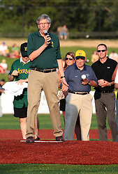"1 June 2010: Town of Normal Mayor Greg Koos. The Windy City Thunderbolts are the opponents for the first home game in the history of the Normal Cornbelters in the new stadium coined the ""Corn Crib"" built on the campus of Heartland Community College in Normal Illinois."