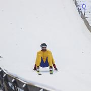 DUI/Hinterzarten/20130212 - Opname Vliegende Hollanders 2013 - Sterren van de Schans, Nicola Liebart springt van de schans