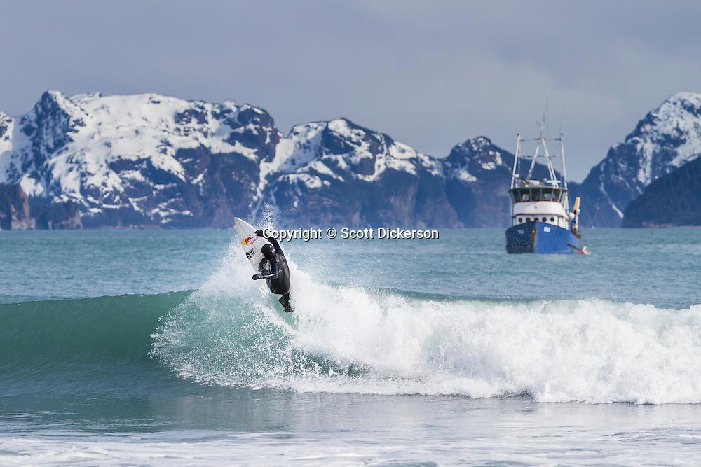Ian Walsh surfing Alaska
