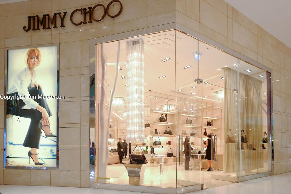 Jimmy Choo store in Dubai Mall in Dubai United Arab emirates