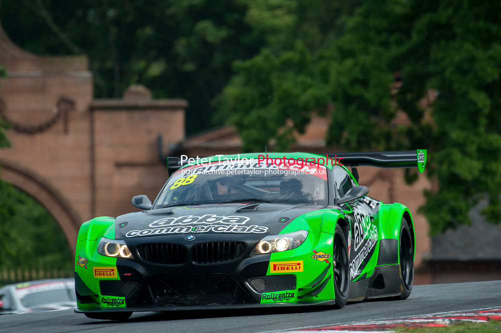 Martin Short (GBR) / Richard Neary (GBR)  #88 Team Abba with Rollcentre Racing  BMW Z4 GT3  BMW 4.4L V8 British GT Championship at Oulton Park, Little Budworth, Cheshire, United Kingdom. May 28 2016. World Copyright Peter Taylor/PSP.