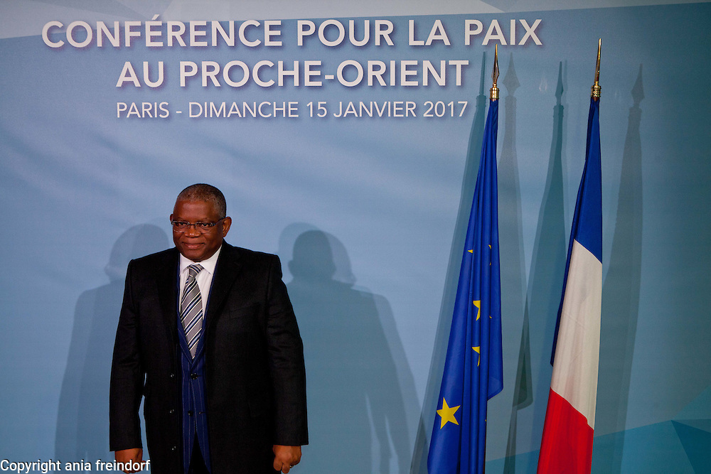 Middle East Peace Conference, Paris, France. International summit. 7O countries have participated in the summit. Georges Rebelo Pinto Chikoti, Foreign Affairs Minister, Angola