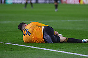 Pedro Neto of Wolverhampton Wanderers goes down injured during the Europa League match between Wolverhampton Wanderers and Slovan Bratislava at Molineux, Wolverhampton, England on 7 November 2019.
