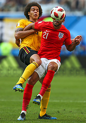 July 14, 2018 - Saint Petersburg, Russia - Axel Witsel (L) of the Belgium national football team and Ruben Loftus-Cheek of the England national football team vie for the ball during the 2018 FIFA World Cup Russia 3rd Place Playoff match between Belgium and England at Saint Petersburg Stadium on July 14, 2018 in St. Petersburg, Russia. (Credit Image: © Igor Russak/NurPhoto via ZUMA Press)