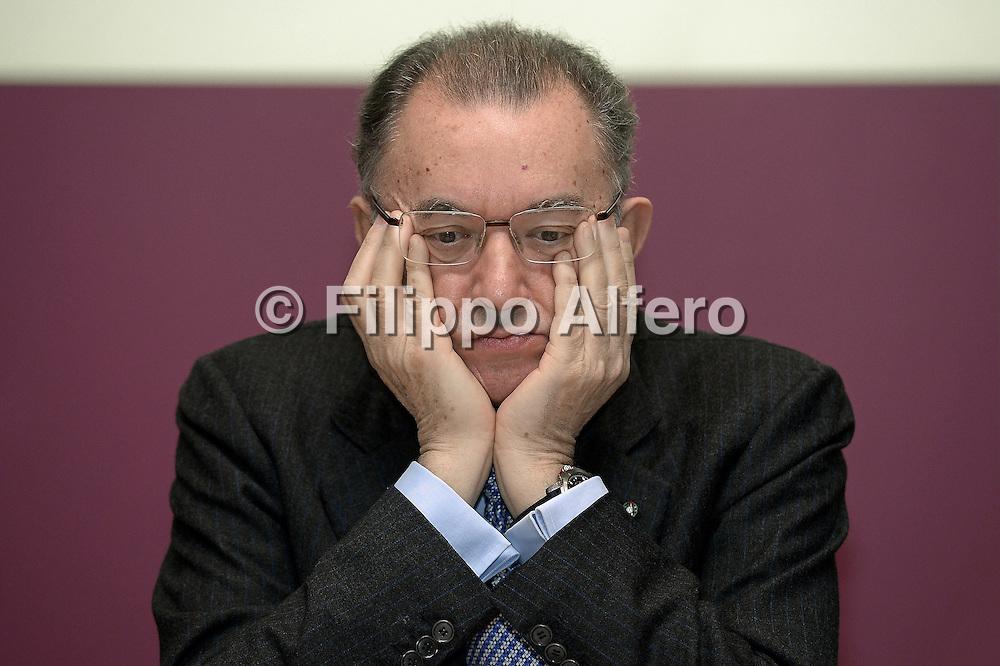 &copy; Filippo Alfero<br /> Riunione Imprenditori Piemontesi presso Unione Industriale Torino<br /> Torino, 13/02/2014<br /> economia<br /> Nella foto: Giorgio Squinzi