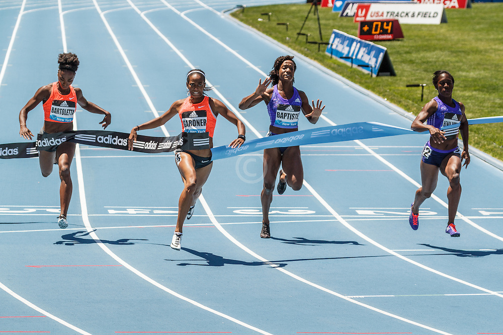 adidas Grand Prix Diamond League Track & Field: Womens 100m, English Gardner, USA
