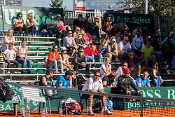 Blaz Trupej during Davis Cup Slovenia vs. South Africa on September 14, 2013 in Tivoli park, Ljubljana, Slovenia. (Photo by Vid Ponikvar / Sportida.com)