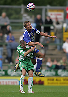 Photo: Lee Earle.<br /> Yeovil Town v Cardiff City. Pre Season Friendly. 21/07/2007.Cardiff's Stephen McPhail (R) clashes with Yeovil's Anthony Barry.