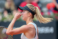 May 18, 2018 - Rome, Rome, Italy - 18th May 2018, Foro Italico, Rome, Italy; Italian Open Tennis; Elina Svitolina (UKR) celebrates after winning her quarte-final match against Angelique Kerber (GER) 6-4, 6-4. Credit: Giampiero Sposito/Pacific Press (Credit Image: © Giampiero Sposito/Pacific Press via ZUMA Wire)