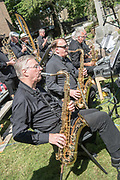 DEAL FESTIVAL 2017. Goodwin Sounds Big Band kick-off a series of free open air performances in the front of St. George's Church, Deal.