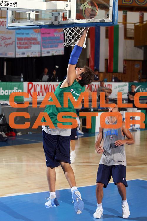 DESCRIZIONE : Bormio Ritiro Nazionale Italiana Maschile Preparazione Eurobasket 2007 Allenamento <br /> GIOCATORE : sTEFANO mANCINELLI<br /> SQUADRA : Nazionale Italia Uomini <br /> EVENTO : Bormio Ritiro Nazionale Italiana Uomini Preparazione Eurobasket 2007 <br /> GARA : <br /> DATA : 26/07/2007 <br /> CATEGORIA : Allenamento <br /> SPORT : Pallacanestro <br /> AUTORE : Agenzia Ciamillo-Castoria/E.Castoria<br /> Galleria : Fip Nazionali 2007 <br /> Fotonotizia : Bormio Ritiro Nazionale Italiana Maschile Preparazione Eurobasket 2007 Allenamento <br /> Predefinita :