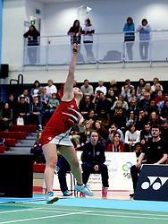 Kirby Ngan of Bristol Jets in action - Photo mandatory by-line: Robbie Stephenson/JMP - 06/02/2017 - BADMINTON - SGS Wise Arena - Bristol, England - Bristol Jets v Surrey Smashers - AJ Bell National Badminton League