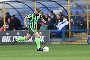 AFC Wimbledon midfielder Tom Beere (16) during the EFL League 1 match between Peterborough United and AFC Wimbledon at ABAX Stadium, London Road, Peterborough, England on 22 October 2016. Photo by Stuart Butcher.