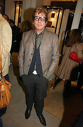 NICKY HASLAM at a party to celebrate the 10th anniversary of the Smythson Fashion Diary and to the launch of the 2007 Limited Edition held at Smythson, New Bond Street, London on 25th October 2006.<br />