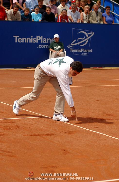 Hilversum Open 2003, Martin Verkerk - John van Lottum, scheidsrechter