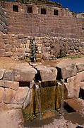 PERU, HIGHLANDS, CUZCO, INCA Tambo Machay, Inca sacred bath