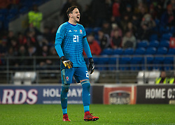 CARDIFF, WALES - Tuesday, November 14, 2017: Wales' Danny Ward during the international friendly match between Wales and Panama at the Cardiff City Stadium. (Pic by Laura Malkin/Propaganda)