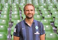 German Soccer Bundesliga - Official Photocall Werder Bremen,  Germany, on Sept. 14th 2014:<br /> Goalkeeper Coach Marco Langner.
