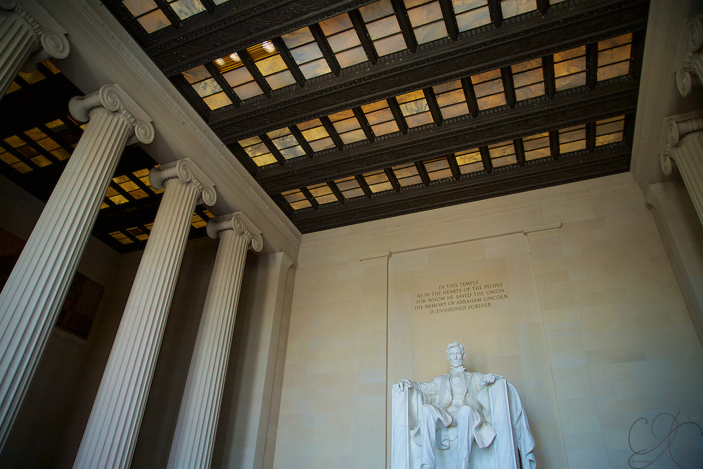 Evoking a feeling not unlike the Temple of Zeus at Olympia in Greece, Abe Lincoln towers over visitors and remains one of the most often quoted and beloved Presidents in American history. A giant in his own right, who preserved the union when it nearly ripped itself apart.