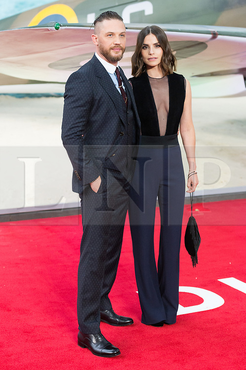 © Licensed to London News Pictures. 13/07/2017. London, UK. TOM HARDY and CHARLOTTE RILEY attends the Dunkirk World Film Premiere. Photo credit: Ray Tang/LNP