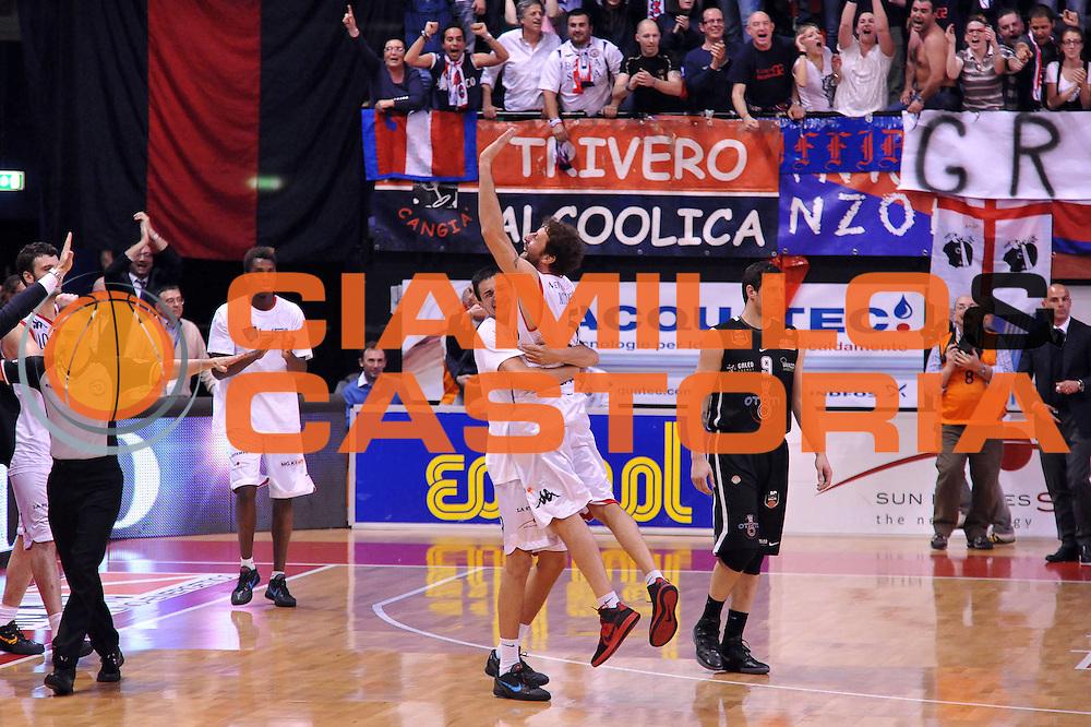 DESCRIZIONE : Biella Lega A 2011-12 Angelico Biella Otto Caserta<br /> GIOCATORE : Nicola Minessi Marco Lagana<br /> CATEGORIA : Esultanza<br /> SQUADRA : Angelico Biella<br /> EVENTO : Campionato Lega A 2011-2012<br /> GARA : Angelico Biella Otto Caserta<br /> DATA : 02/05/2012<br /> SPORT : Pallacanestro<br /> AUTORE : Agenzia Ciamillo-Castoria/S.Ceretti<br /> Galleria : Lega Basket A 2011-2012<br /> Fotonotizia : Biella Lega A 2011-12 Angelico Biella Otto Caserta<br /> Predefinita :