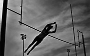Rumson-Fair Haven's Emily Boak competes in the pole vault during the Monmouth County Track & Field Championships held at Holmdel High School in Holmdel on May 11.
