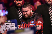Michael Smith during the walk-on during the World Darts Championships 2018 at Alexandra Palace, London, United Kingdom on 30 December 2018.