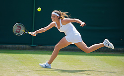 LONDON, ENGLAND - Wednesday, July 1, 2009: Tamaryn Hendler (BEL) during the Girls' Singles 3rd Round match on day nine of the Wimbledon Lawn Tennis Championships at the All England Lawn Tennis and Croquet Club. (Pic by David Rawcliffe/Propaganda)