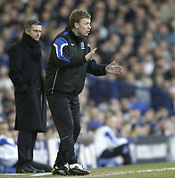 Photo: Aidan Ellis.<br /> Everton v Chelsea. The FA Cup. 28/01/2006.<br /> Everton's David Moyes and Chelsea's Jose Mourinho