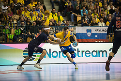 Jaka Malus during handball match between RK Celje Pivovarna Lasko (SLO) and Paris Saint-Germain HB (FRA) in VELUX EHF Champions League 2018/19, on February 24, 2019 in Arena Zlatorog, Celje, Slovenia. Photo by Peter Podobnik / Sportida