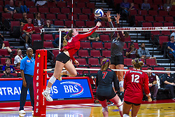 BLOOMINGTON, IL - September 28: Sarah Kushner during a college Women's volleyball match between the ISU Redbirds and the Southern Illinois Salukis on September 28 2019 at Illinois State University in Normal, IL. (Photo by Alan Look)