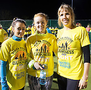 Leona McCarthy Kilbeacanty, Emer Geoghegan and Louise Geoghegan, Ardrahan at the Kinvara Darkness into Light walk in Kinvara in aid of Pieta House  :<br />  Photo:Andrew Downes, XPOSURE