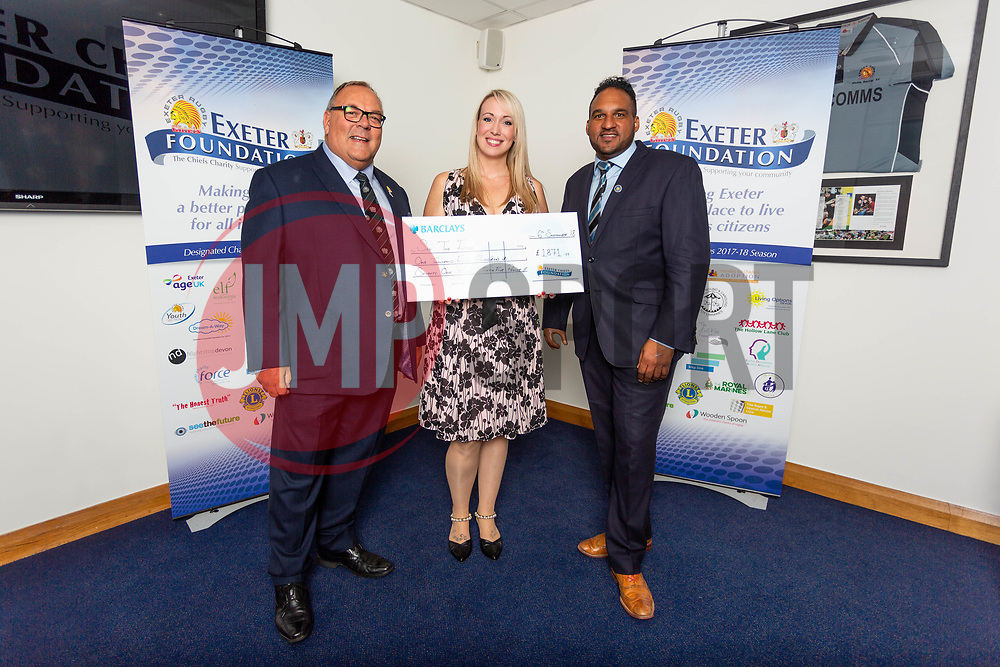 The See The Future Charity receives their cheque - Ryan Hiscott/JMP - 06/08/2018 - RUGBY - Sandy Park - Exeter, England - Exeter Chiefs Season Launch Dinner