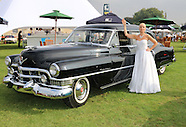 Madalena Alberto as Evita - Eva and Juan Peron 1951 Cadillac Limousine - photocall