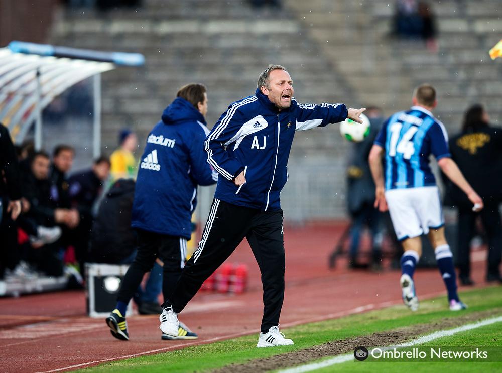 STOCKHOLM 2013-04-27<br /> ALLSVENSKAN FOTBOLL DJURG&Aring;RDEN VS SYRIANSKA FC<br /> ANDERS JOHANSSON