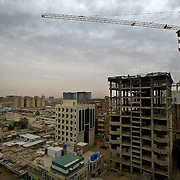 Cranes and new construction dot Khartoum's skyline. Sudan is experiencing an economic boom, and investors mainly from the Gulf countries and China, are flocking to Africa's largest country.