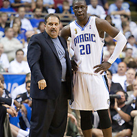 NBA - PLAYOFFS NBA 2008/2009 - LOS ANGELES LAKERS V ORLANDO MAGIC - GAME 3 -  ORLANDO (USA) - 09/06/2009 - .MICKAEL PIETRUS (MAGIC), STAN VAN GUNDY (MAGIC)