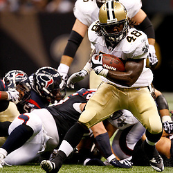 August 21, 2010; New Orleans, LA, USA; New Orleans Saints running back Chris Ivory (48) runs against the Houston Texans during the second quarter of a preseason game at the Louisiana Superdome. Mandatory Credit: Derick E. Hingle