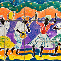 Emancipation of Slavery Panel from Wall of History in George Town, Grand Cayman <br />