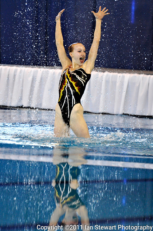Ian Stewart/Yukon News<br /> Jane McCulloch of BC performs in the preliminary duet competition on Wednesday at the Canada Games Centre in Halifax, Nova Scotia. See more Games coverage on pages 12, 13, 31-34.