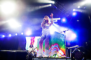 Jenny Lewis on stage at Lollapalooza 2014.
