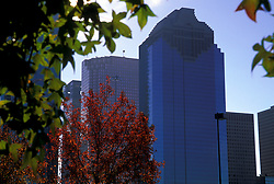 Houston Skyline Showing Texas Heritage Plaza Downtown