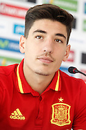 Hector Bellerin speaks during a press conference at Aktivpark Montafon Stadion, Schruns<br /> Picture by EXPA Pictures/Focus Images Ltd 07814482222<br /> 28/05/2016<br /> ***UK &amp; IRELAND ONLY***<br /> EXPA-ESP-160530-0053.jpg