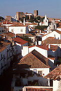 PORTUGAL, CENTRAL AREA, OBIDOS castle now Pousada or hotel in an ancient, medieval, walled town; one of Portugal's most picturesque towns