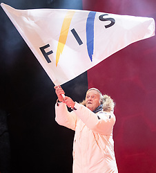 04.02.2019, Aare, SWE, FIS Weltmeisterschaften Ski Alpin, Eröffnungsfeier, im Bild Gian Franco Kasper (FIS Präsident) // Gian Franco Kasper president of the International Ski Federation during the opening ceremony of the FIS Ski Alpine World Championships 2019 in Aare, Sweden on 2019/02/04. EXPA Pictures © 2019, PhotoCredit: EXPA/ Johann Groder