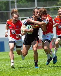 May 19, 2018 - Hong Kong, Hong Kong, China - Outside centre Johannes Engelbrecht (c 13) of the Stormers scores the first match tryJapanese team Sunwolves win 26-23 over South Africa's Stormers in Rugby Super League's Hong Kong debut. Mong Kok Stadium, Hong Kong . Photo Jayne Russell (Credit Image: © Jayne Russell via ZUMA Wire)