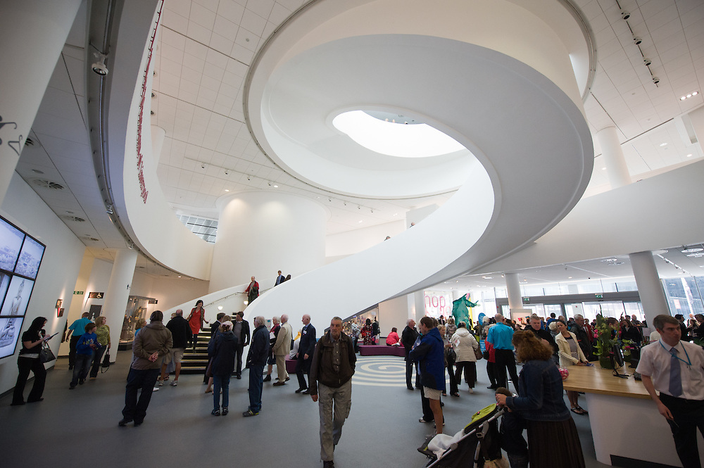 The main entrance inside the Museum of Liverpool showing off the fantastic staircase.