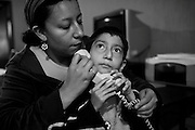 Fabricio's mother has called to talk to her grandson. Though Mateo can barely speak three words, he loves to listen to his favorite grandmothers voice.