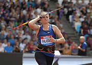 Jul 20, 2019; London, United Kingdom; Tatsiana Khaladovich (BLR) wins the women's javelin at 216-10 (66.10m) during the London Anniversary Games at London Stadium at  Queen Elizabeth Olympic Park.