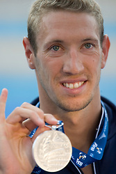 Second placed Alain Bernard of France at the victory ceremony after the Men's 100m Freestyle Final during the 13th FINA World Championships Roma 2009, on July 30, 2009, at the Stadio del Nuoto,  in Foro Italico, Rome, Italy. (Photo by Vid Ponikvar / Sportida)